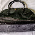 Vintage δερμάτινη μαυρη τσάντα απο Αίγυπτο.