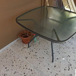 Τραπέζι κήπου/μπαλκονιού Veracruz industrial από μέταλλο σε χρώμα μαύρο - ΑΡΙΣΤΗ ΚΑΤΑΣΤΑΣΗ