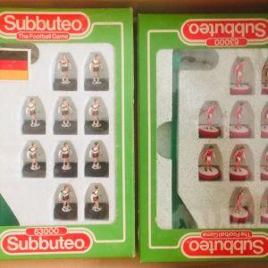 Subbuteo Pack (6 ομάδες 3 μπάλες βιβλιαρακι και 4 προσπέκτους & 2 ομάδες δώρο για Παρτς)