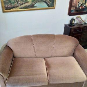 Διθεσιος καναπές με μπρατσα που γίνεται κρεβάτι