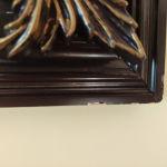 πίνακας κεντητος! σε σκαλιστό ξύλο!!60 χρόνων!