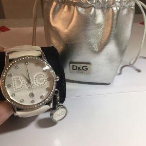 D&G άσπρο ρολόι με στρας