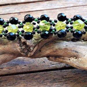 Βραχιόλι με γυάλινες χάντρες Χειροποίητο, Handcracraft Bracelet with Glass beads, Unique Bracelet by MariasCrafts