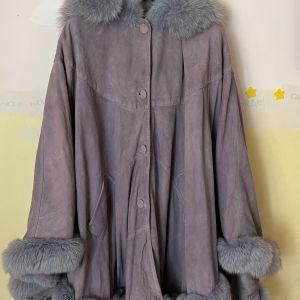 Γυναικείο Παλτό Καστόρι με Γούνα. One Size