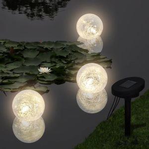 Ηλιακός γλόμπος που επιπλέει με 3 LED για λίμνες και πισίνες-40869