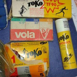 ski - κεριά wax for ski vola, toko 3 θερμοκρασιών