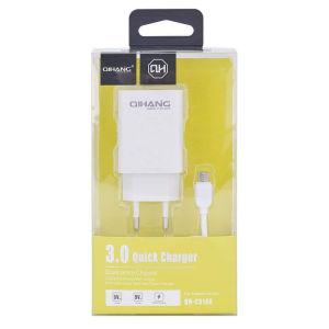Γρήγορος φορτιστής Micro USB καλώδιο & 18 w USB Turbo Wall Γρήγορη ταξιδιωτική προσαρμογή Λευκό 3.0