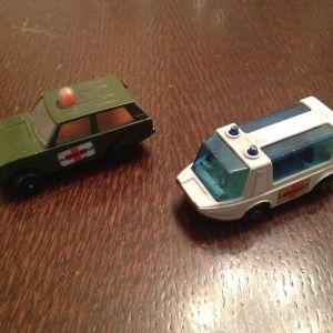 Αυτοκινητάκια-ασθενοφόρα Matchbox από τη δεκαετία του 70.