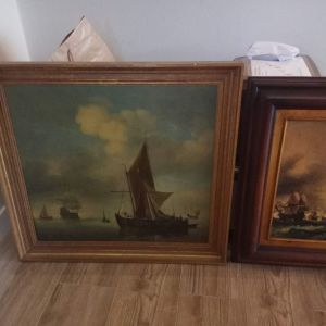 2 Μεγάλοι Πίνακες με ναυτικό θέμα