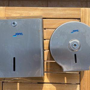 Θήκη για χειροπετσέτες ζικ-ζακ Jofel Inox από ανοξείδωτο ατσάλι επαγγελματική 33x13x25cm