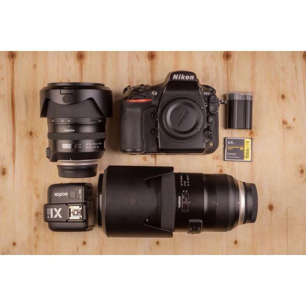 Nikon D810 + Tamron 70-200 + battery + Godox X1T-N. (2000 evro)