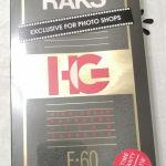 Κασέτες Άγραφες DVD RAKS - E-60  κενούριες σφραγισμένες.