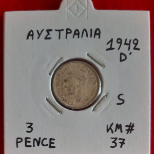 3 Pence(Silver) - Αυστραλία 1942 D