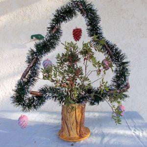 Χριστουγεννιάτικα δέντρα σε γλάστρα
