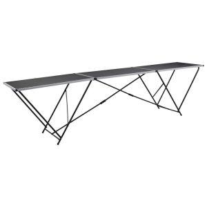 vidaXL Τραπέζι για Κόλληση Ταπετσαρίας 300x60x78 εκ. από MDF/Αλουμίνιο-140718