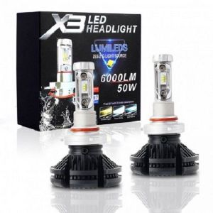 LED Λάμπες ZES X3 LED 50W 6000LM H4-H7-H11-H1