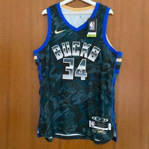 Giannis Antetokounmpo 34 Milwaukee Bucks Nike MVP Men Jersey Limited Edition