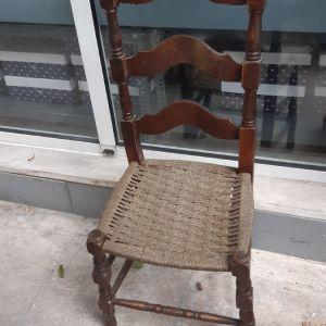 3 καρεκλες ρουστικ παραδοσιακες μεψαθα