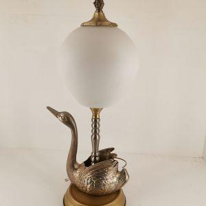 Φωτιστικό επιτραπέζιο μπρούτζινο (κύκνος) - εποχής 1950