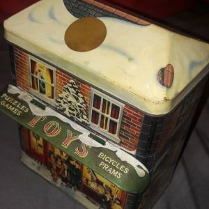 Πολύ όμορφα vintage μεταλλικά κουτιά για μπισκότα