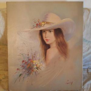 Πινακας Νεαρης Γυναικας - Εργο Τεχνης