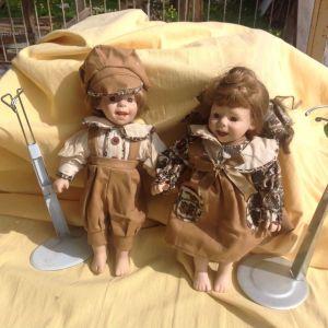 Κούκλες πορσελάνης ζευγάρι.