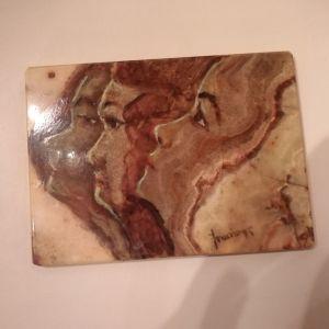 Ζωγραφική σε ονυχα, δεκαετίας 70, Π. Τατσης