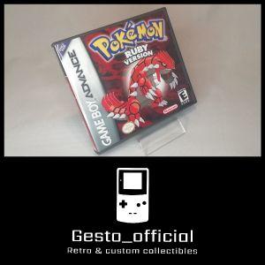 Pokemon Ruby Gameboy Advance custom case
