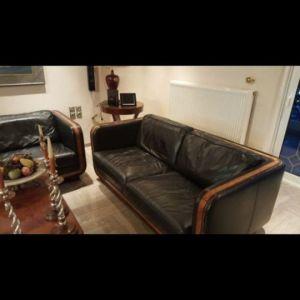 Καναπές 2θέσιος δερμάτινος
