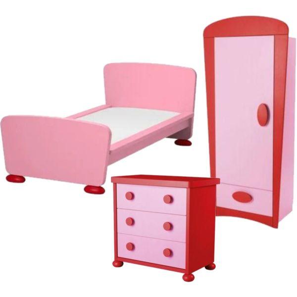 pediko domatio set -  krevati, ntoulapa ke sirtariera IKEA Mammut