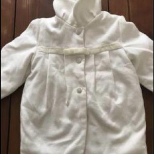 Άσπρο παλτό Ήρα 9-12 μηνών