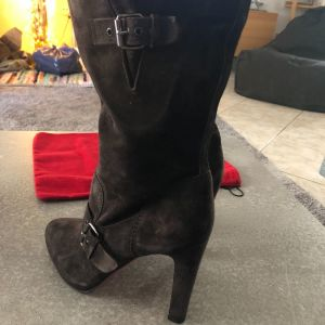 Christian Louboutin original suede ebene μπότες