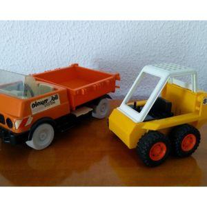 Vintage ''Μπουλντόζα 1980'' και ''Φορτηγάκι 1975'' Playmobil