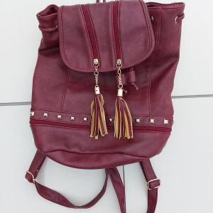 Μπορντό σακίδιο πλάτης backpack