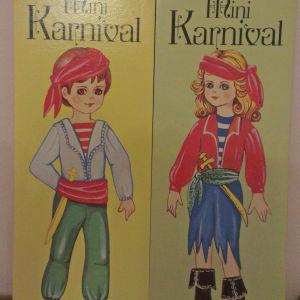 Vintage Paper dolls diplo set