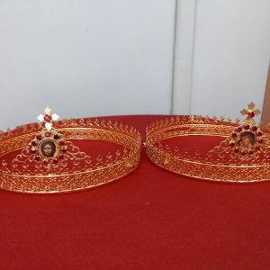 Επίχρυσα Βυζαντινά Στέφανα γάμου