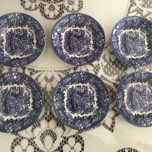 Vintage Dickens Series 6 πιάτα