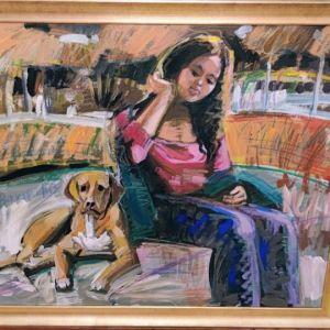 Λάδι σε καμβά, αυθεντικός πίνακας επώνυμου ζωγράφου