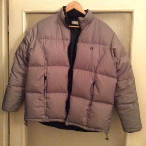 Fred Perry special gray puffer jacket μπουφάν medium- large άφθαρτο αγορασμένο 369€