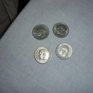 4 κερματα 2 δραχμών κοπής 1973