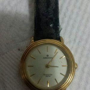 JUNGHANS vintage γυναικείο ρολόι με γνήσιο lizard λουράκι