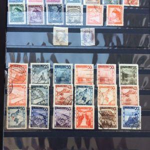 Συλλογη διαφορετικων γραμματοσημων Αυστριας