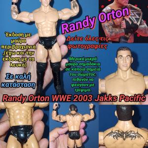 WWE figure RANDY ORTON 2003 Jakks Pacific Wrestler Φιγούρα Παλαιστή Έκδοση με τα Μαύρα Περιβραχιόνια