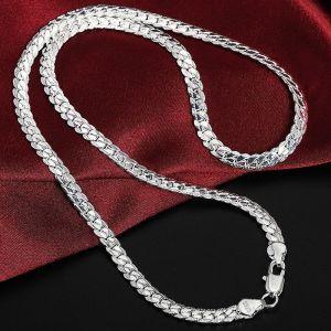 925 Sterling Silver αντρικη γυναικεια ατσαλινη αλυσιδα λαιμου