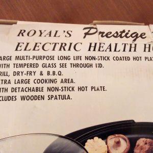 ROYAL TEPPANYAKI ELECTRIC HEALTH HOT PLATE PRESTIGE ΗΛΕΚΤΡΙΚΗ ΨΗΣΤΑΡΙΑ ΤΕΠΑΝΓΙΑΚΙ