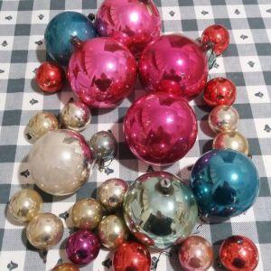 Vintage χριστουγεννιάτικες μπάλες