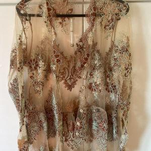 Nidodileda Vintage Κιμονό/ Nidodileda vintage lace kimono / maxi dress with green details