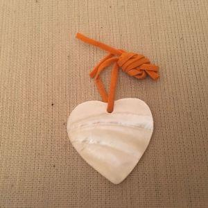 λευκή καρδιά μπιζού για κρεμαστό κολιέ