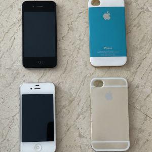 iphone 4s (δύο) με θήκες προστασίας