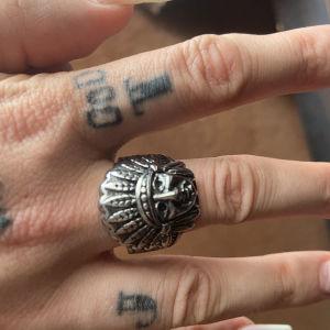 ατσάλινο δαχτυλίδι Indian chief